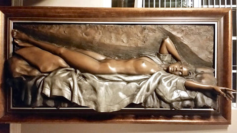 "Bill Mack (American, b. 1949), ""Awakening"", bonded bronze relief sculpture, signed"
