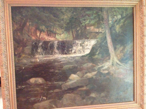 Bayard Henry Tyler (American, 1855-1931), Mountain Stream, 1915, oil on canvas, signed