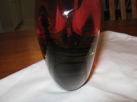 Luigi Onesto (Italian, b. 1935), Large Art Glass Large Vase, Murano, signed, 20th century