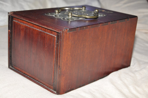 Chinese Rosewood Missy Box with Bai-Yuan Marble Insert,, ca. 1875-1910