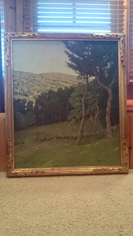 Ben (Benjamin) Foster (American, 1852-1926), Hillside Landscape, oil on canvas, signed