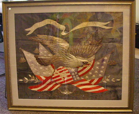 United States Naval Remembrance Flag, probably Chinese, ca. 1900-20