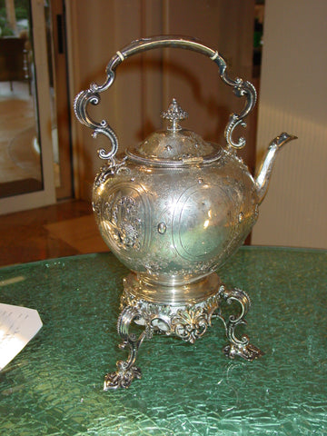 Victorian Silver Kettle on Stand, J., E., W. & J. Barnard, London, 1872