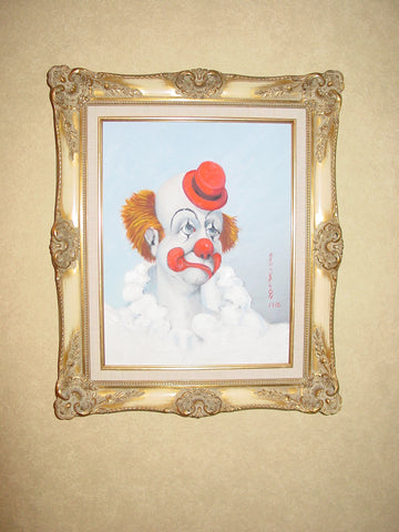 "Richard Bernard ""Red"" Skelton (American, 1913-1997), ""The Bedroom Clown"", 1976, oil on canvas, signed"