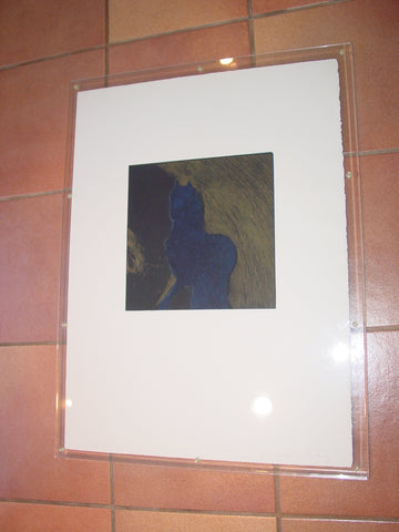 "Fritz Scholder (American, 1937-2005), ""Dream Horse at Night"", lithograph in colors, numbered"