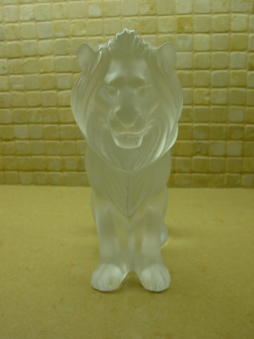 Lalique Frosted Glass Lion Lalique, France, 20th century, fully marked