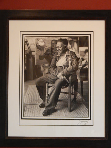 "Enrique Segarra (Mexican, b. 1923), ""Diego Rivera,"" gelatin silver print, signed in pencil and numbered ""P.A."""