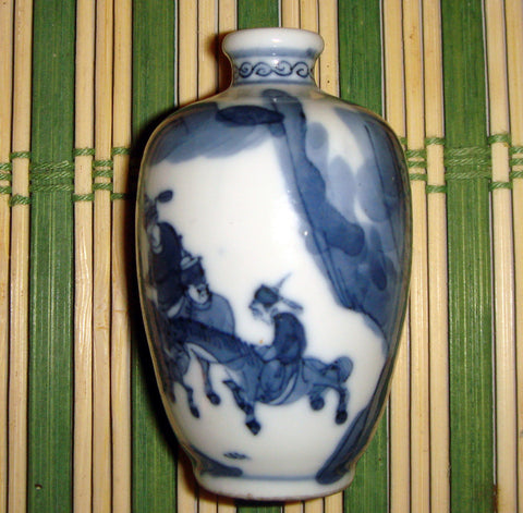 Three Chinese Porcelain Snuff Bottles,  probably Qing Dynasty, ca. 1850-1875