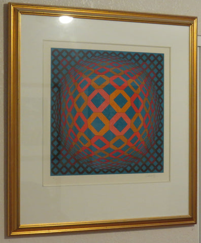 "Victor Vasarely (French, 1906 or 1908-1997), ""Okta Sarga"" from the ""11+1"" suite, 1985, serigraph, signed and numbered"
