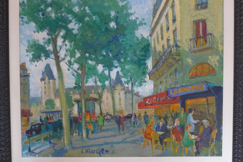 "Constantine Kluge (Russian/French, 1912-2003), ""Place Saint Michel"", oil on canvas, signed"