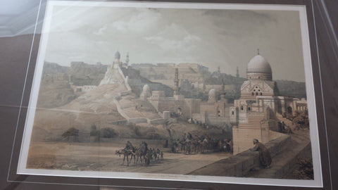 "David Roberts (Scottish, 1796-1864), Louis Haghe (British), ""The Citadel of Cairo, Residence of Mehemet Ali"", 1849, lithograph"