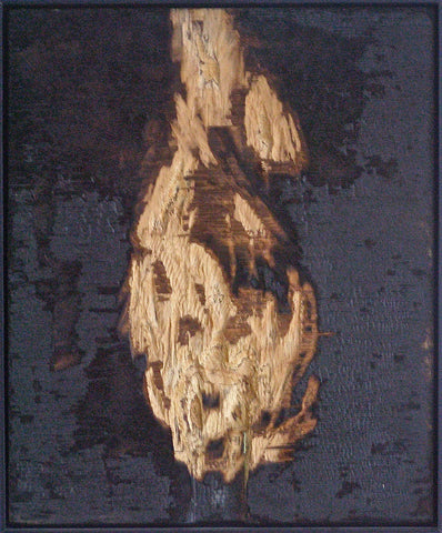 Peter von Tiesenhausen (Canadian, b. 1959), Untitled, 2001, no. 112, burnt, charred and chiseled plywood, signed and dated