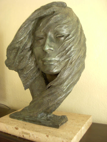 "Harry Jackson (American, 1924-2011), ""In the Wind"" (Sacajawea), 1980, patinated bronze sculpture, signed and numbered"