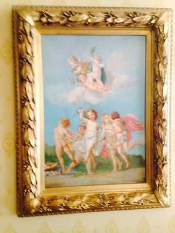 Continental School (19th Century), Allegory of Spring, unsigned, oil on canvas