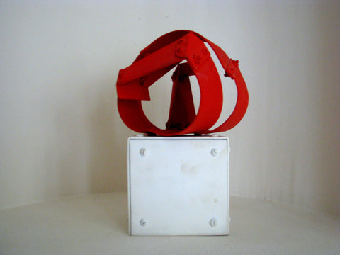 "Edgar Negret (Colombian, 1920-2012), ""Acoplamientó"", 1976, painted aluminum, unique, signed, titled and dated"