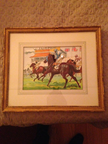 Frank Nelson Ashley (American, 1920 - 2007), The Epsom Oaks, ca. 1979, watercolor on paper, signed