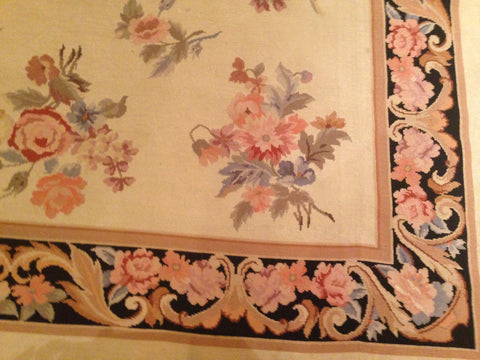 Chinese Needlepoint Carpet, 20th century, in French Aubusson style
