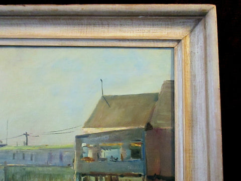 Pasquale Masiello (American, 20th Century), Provincetown, Mass., oil on canvas, signed