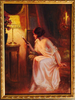 "Delphin Enjolras (French, 1857-1945) ""Before Bedtime"", ca. 1910, oil on panel, signed"