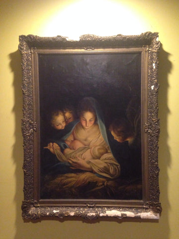 After Carlo Maratta (Italian, 1625-1713) The Holy Night, oil on canvas, after the original in the Gemäldegalerie, Dresden