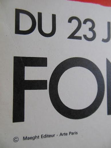 Exhibition Poster, Joan Mir—ó, Fondation Maeght July 23 - September 30, Saint-Paul, lithograph