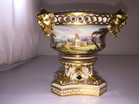 English Derby Porcelain Polychromed and Gilt Potpourri, ca. 1820, marked underfoot