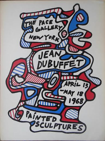 "Exhibition Poster, Jean Dubuffet, ""Painted Sculptures"", Pace April 13 - May 18, New York, silkscreen"