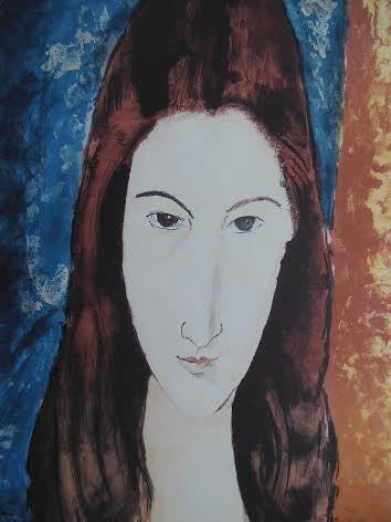 Color Lithographic Poster After an image by Amedeo Modigliani (Italian, 1884-1920)