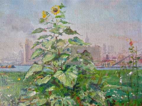 "Francis Vandeveer Kughler (American, 1901-1970), ""Summertime at Hell's Gate"" (Manhattan), oil on canvas, signed"