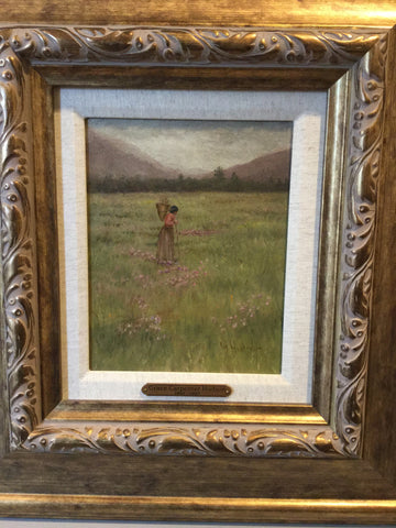 Grace Carpenter Hudson (American, 1865-1937), Woman in Field, oil on panel, signed and framed, late 19th/early 20th century