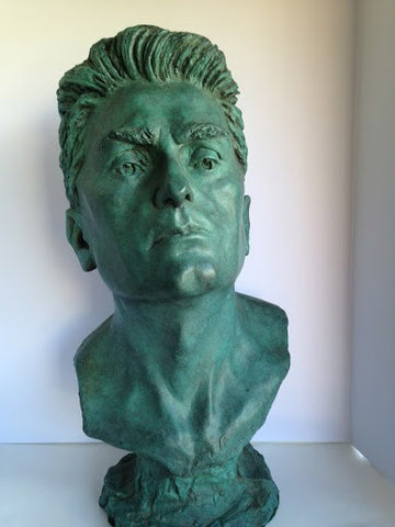 Martine Vaugel (French/American, 20th Century), Portrait Bust of a Man, ca. 1980, patinated bronze, FP1/1
