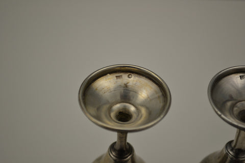 Pair of Russian Silver Small Goblets, early 20th century