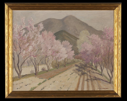 Albert Herman Schmidt (American, 1885-1957), Dusty Paths, oil on canvas board, signed, 20th century