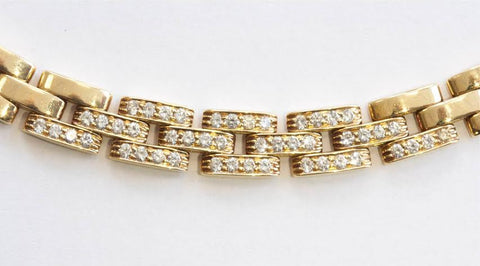 "Cartier 18K Gold and Diamond ""Maillon Panthre"" Necklace, signed, 20th century"