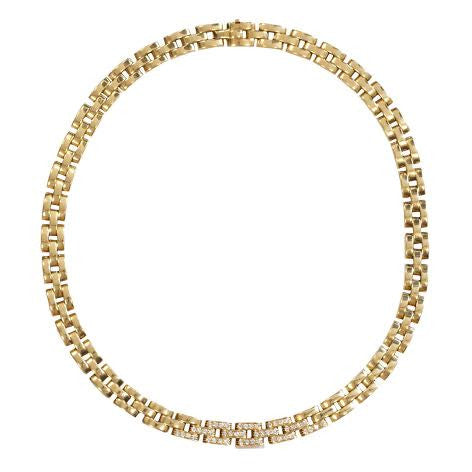 "Cartier 18K Gold and Diamond ""Maillon Panthère"" Necklace"