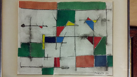 Somerville (American School, 20th Century), Untitled, 1970, watercolor on paper, signed