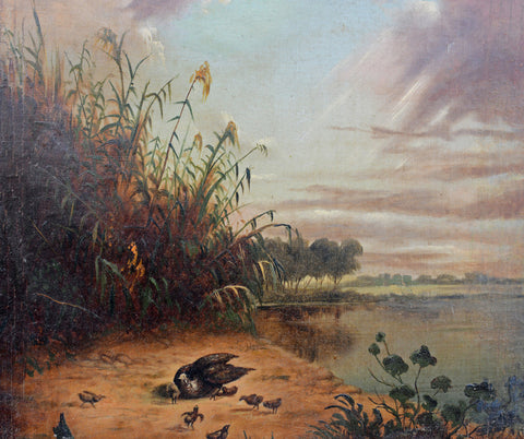 Howard L. Hill (American/New England, Active 1860-1877), oil on canvas, signed