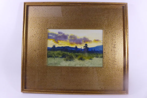 Charles Partridge Adams (American, 1858-1942), Landscape, watercolor on paper, signed, 20th century