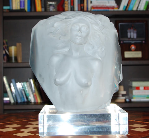 "Frederick Hart (American, 1943-1999), ""Memoir"", 1985, clear frosted and molded acrylic figural sculpture, ed. 300"