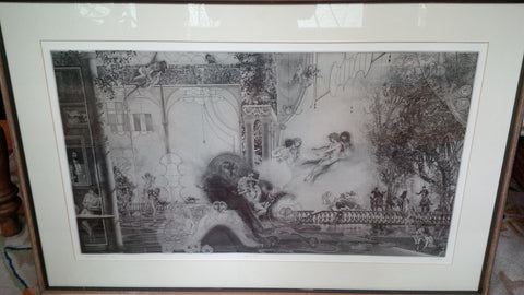 "Peter Milton (American, b. 1930), ""Les Belles et la Bête II: Before the Hunt"", 1978, etching, signed and numbered"