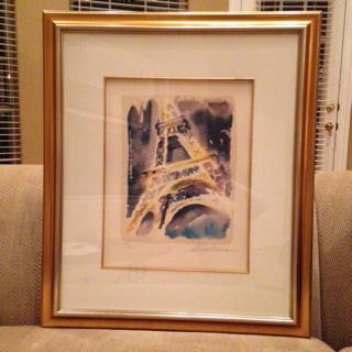 "LeRoy Neiman (American, 1927-2012), ""The Eiffel Tower"", 1994, from The Paris Suite, screenprint, signed, numbered"
