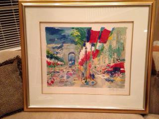 LeRoy Neiman (American, 1927-2012), July 14 (Bastille Day), 1994, from The Paris Suite, screenprint, signed, ed. 250