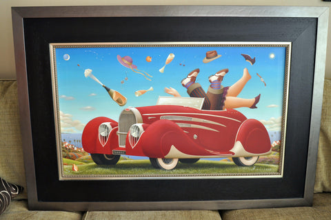 "Anton Arkhipov (Russian, b.1964), ""Tryst Alfresco"", gicleeŽ on canvas, signed, numbered ""12/35"""