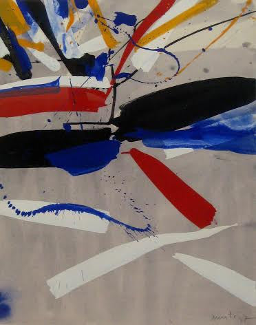 Edo Murtić (Croatian, 1921-2004), Untitled, 1977, gouache on paper, signed and dated