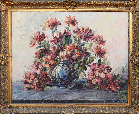 Leonid Gechtoff (Ukrainian/American, 1883-1941), Still Life, oil on canvas, signed