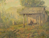 "Matthew Kalmenoff (American, 1905-1986), ""Woodcutter's Cabin"", 1932, oil on canvas, signed"