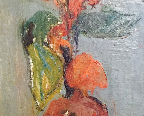Earl Kerkam (American, 1891-1965), Untitled (Vase with flowers), oil on canvasboard, signed