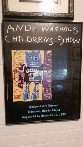 "Exhibition Poster for ""Andy Warhols Childrens Show"", 1985 Newport Art Museum, bearing the autograph Andy Warhol (American, 1928-1987)"