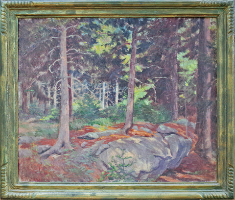 "Theodore Dillaway (American, 1874-1953), ""Primeval Forest"", oil on canvas, signed, 20th century"