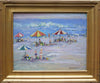 "Robert Waltsak (American, b. 1944), ""Beach Umbrellas"", oil on canvas, contemporary"